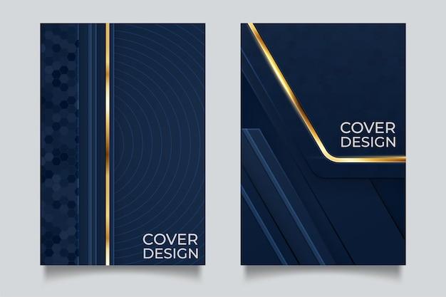 Diseño de portada de vector mínimo con degradado abstracto