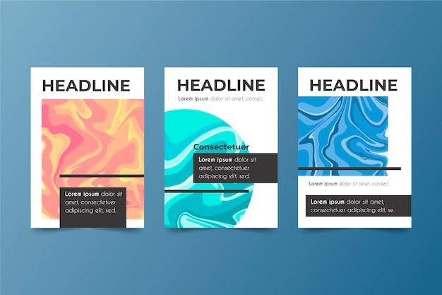 Diseño de portadas coloridas abstractas