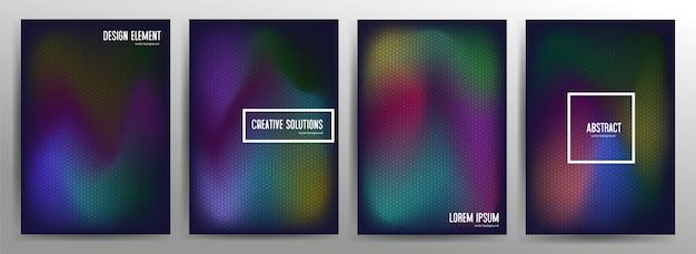 Diseño de portadas mínimas. cool gradientes de medios tonos.