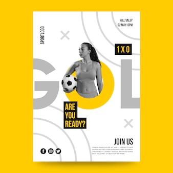 Diseño de póster deportivo con foto