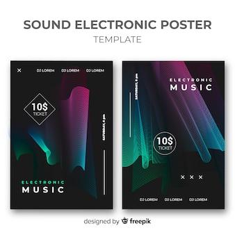 Diseño de poster para evento de música electrónica
