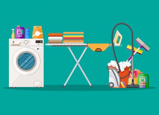 Diseño de póster para servicio de limpieza y suministros.