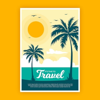 Diseño de póster de viaje ilustrado