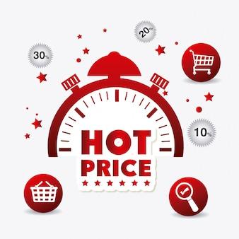 Diseño de precio caliente de compras.