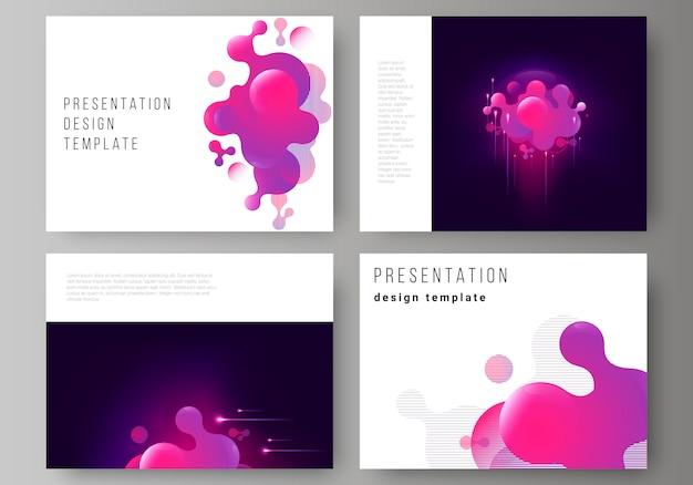 El diseño de la presentación desliza plantillas de negocios