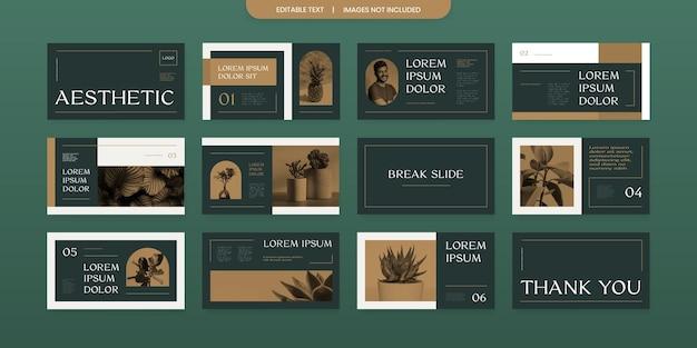 Diseño de presentación de diapositivas de presentación de aspecto retro simple