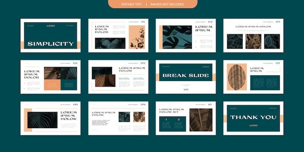 Diseño de presentación de diapositivas de presentación moderna simple