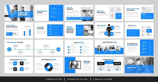 Diseño de presentación de powerpoint del informe anual