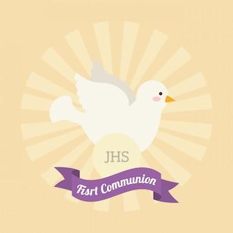 Diseño de la primera tarjeta de comunión