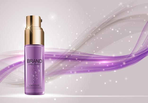 Diseño de productos cosméticos. 3d realista