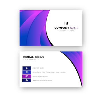 Diseño profesional elegante de la tarjeta de visita de la pendiente