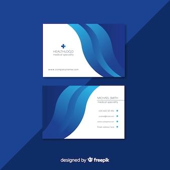 Diseño profesional de tarjeta de visita médica