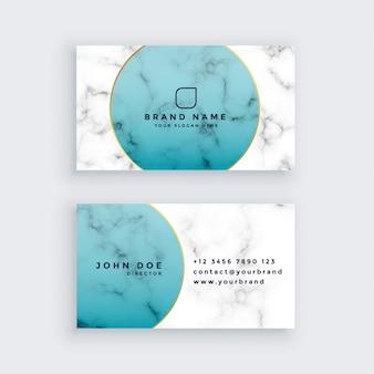 Diseño profesional de tarjetas de visita de mármol
