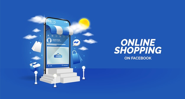 Diseño de promoción de compras online