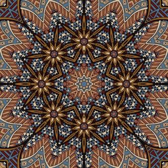 Diseño psicodélico del patrón de mandala abstracto
