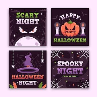 Diseño de publicación de instagram del festival de halloween