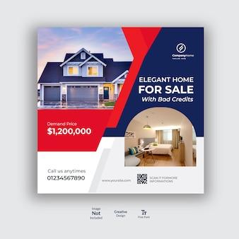 Diseño de publicaciones en redes sociales inmobiliarias.