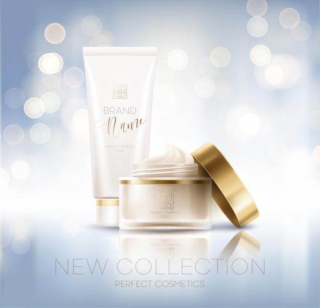 Diseño de publicidad de productos cosméticos.