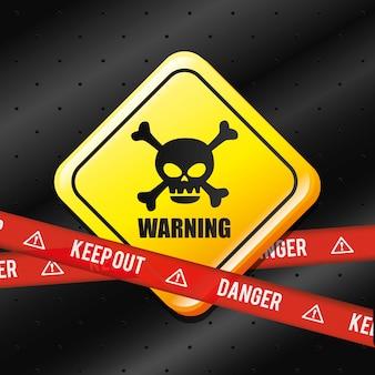 Diseño publicitario de peligro.