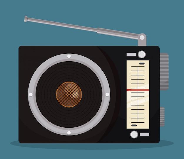 Diseño de radio vintage.