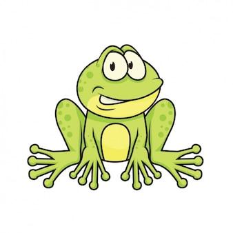 Diseño de rana pintada a mano
