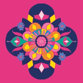 Diseño de rangoli indio de diwali