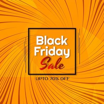 Diseño de rayos de remolino venta de viernes negro fondo amarillo