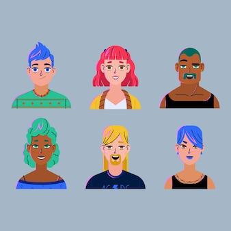 Diseño realista para avatares de personas.
