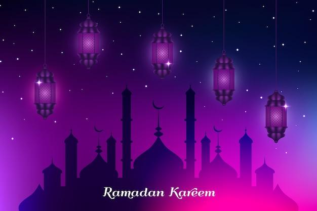 Diseño realista celebración del ramadán