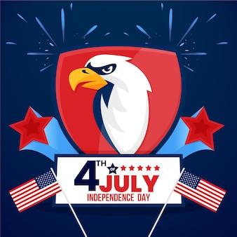Diseño realista del día de la independencia