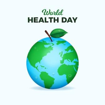 Diseño realista del día mundial de la salud