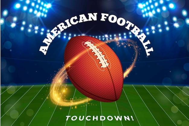 Diseño realista de futbol americano