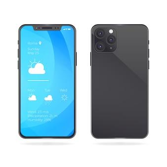 Diseño realista de maqueta de iphone