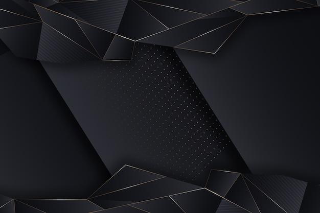 Diseño realista de papel tapiz con formas geométricas elegantes