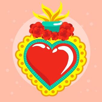 Diseño realista del sagrado corazón