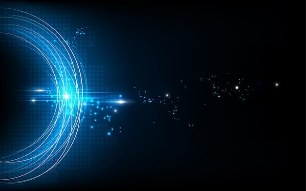 Diseño de red de comunicación de tecnología abstracta