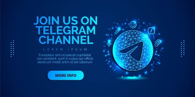 Diseño de redes sociales de telegram