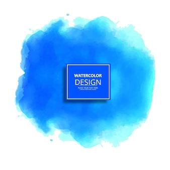Diseño redondo azul de acuarela