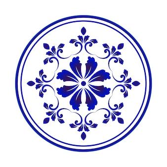Diseño redondo de flores