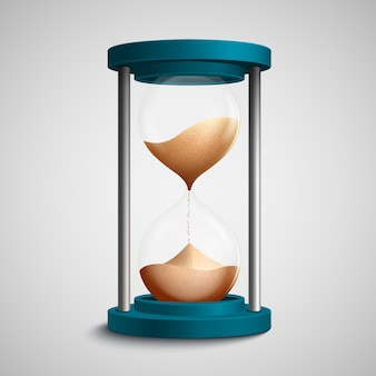 Diseño de reloj de arena realista
