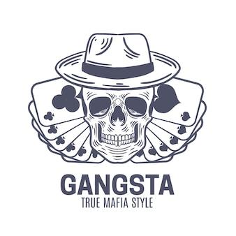 Diseño retro del logo de gángster