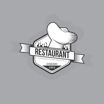 Diseño retro del logo del restaurante
