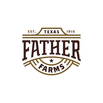 Diseño retro del logotipo de la tipografía de western label