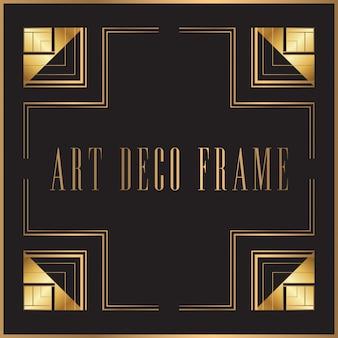 Diseño retro del marco del art déco