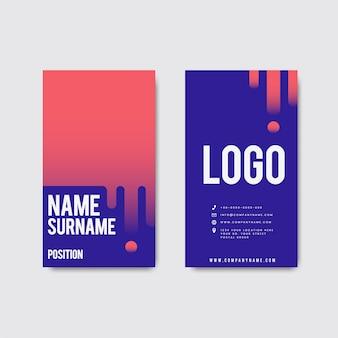 Diseño retro moderno creativo de la tarjeta de visita