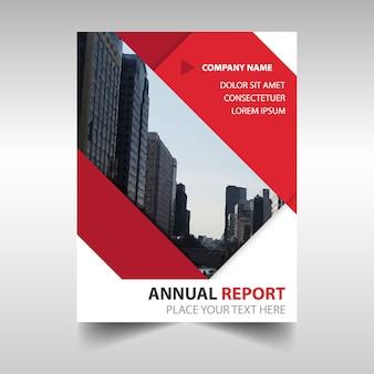 Diseño rojo creativo de folleto de negocios