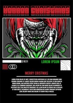 Diseño de ropa de calle de navidad de terror