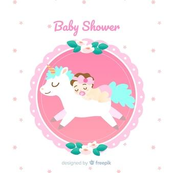 Diseño rosa de baby shower para niña