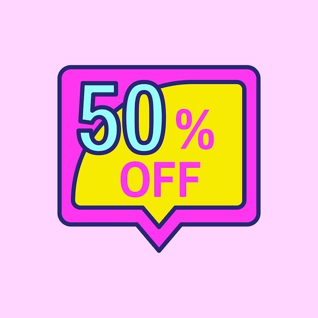 Diseño rosado de la insignia de la venta de las compras