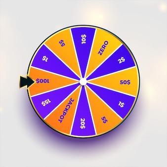 Diseño de la ruleta de la fortuna de la rueda de la suerte